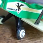 Repaired airplane wheel