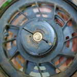 Underside of starter pulley