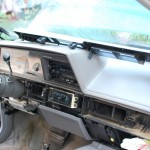 Picture of car interior with trim panel removed