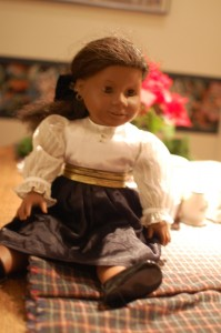 American Girl Addie with repaired leg