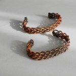Picture of 2 copper braided bracelets Ashley 2976 and 2979